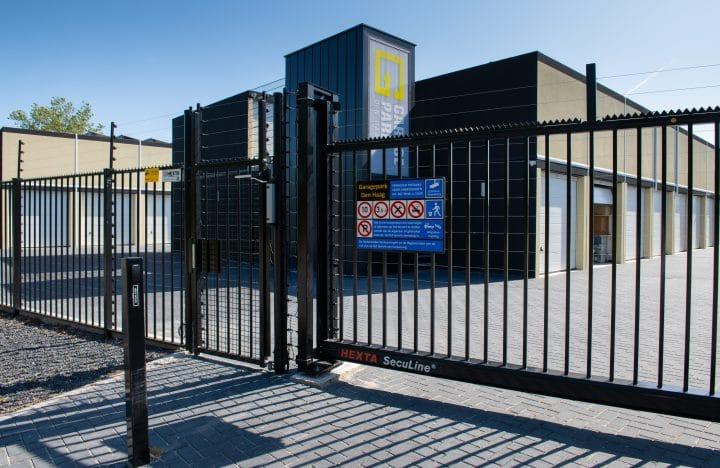 GaragePark hekwerk met stroomschokbeveiliging - Garageboxen