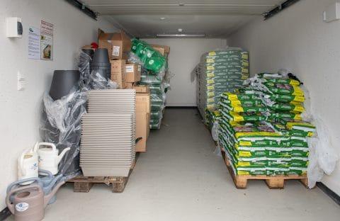 winkelvoorraad opslag - beveiligde garagebox - GaragePark