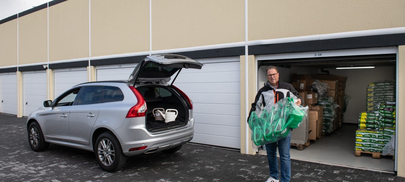 winkelvoorraad opslag garagebox - GaragePark