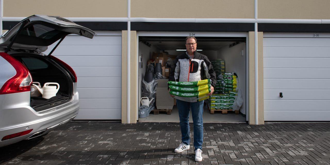 winkelvoorraad opslag garagebox - Stadsbouwmarkt Amsterdam - GaragePark