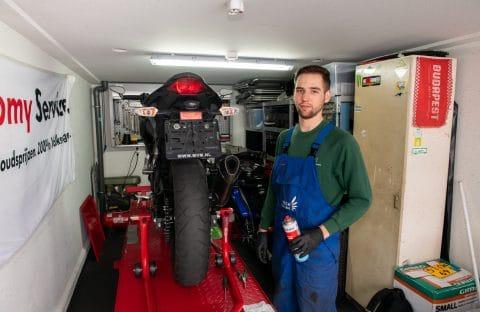 motorstalling garagepark motorbrug